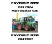 FENDT FAVORIT 626 LS Fahrgst- Nr.: 292/21/0002